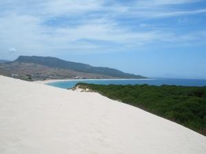 Vistas desde la duna de la playa de Bolonia / Foto: Ana B. González Carballal