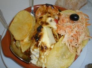 Bacalhau a Bom Jesus en el restaurante Bom Jesus / Foto: Ana B. González Carballal